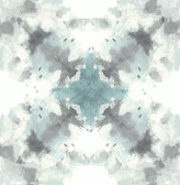2763-24211 Mysterious Teal Abstract Wallpaper