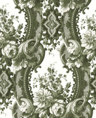 2763-24215 Dreamer Green Damask Wallpaper