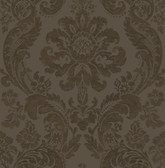 2763-87311 Shadow Brown Damask Wallpaper