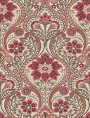 2763-12106 Night Bloom Coral Damask Wallpaper