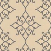 DL30606 Sebastian Gold Crepe Moroccan Medallion Wallpaper