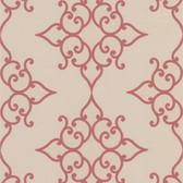 DL30608 Sebastian Red Crepe Moroccan Medallion Wallpaper