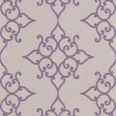 DL30609 Sebastian Purple Crepe Moroccan Medallion Wallpaper