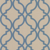 DL30617 Harira Blue Moroccan Trellis Wallpaper