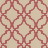 DL30618 Harira Red Moroccan Trellis Wallpaper