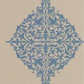 DL30621 Pastiche Blue Classical Motif Wallpaper