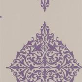 DL30622 Pastiche Purple Classical Motif Wallpaper