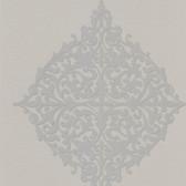 DL30624 Pastiche Grey Classical Motif Wallpaper