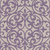 DL30627 Sonata Purple Ironwork Wallpaper