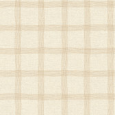 LG1330 Tattersall Wallpaper - Beige/Gold