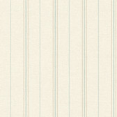 LG1341 Grain Sack Stripe Wallpaper - Aqua/Beige