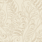CP1268 Candice Olson Modern Fern Wallpaper - Antique Gold on Cream