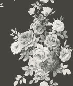 ME1533 Magnolia Home Vol. II Tea Rose  Black/White on Black