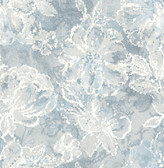 2793-24706 Allure Blue Floral Wallpaper