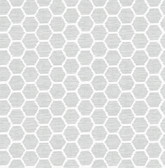 2793-24712 Aura Grey Honeycomb Wallpaper