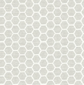 2793-24713 Aura Platinum Honeycomb Wallpaper