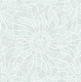 2793-24718 Daydream Blue Abstract Floral Wallpaper