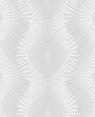 2793-87327 Feliz Silver Beaded Ogee Wallpaper