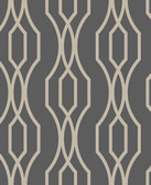 2782-24511 Coventry Charcoal Trellis Wallpaper