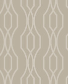 2782-24513 Coventry Taupe Trellis Wallpaper