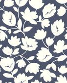 2782-24552 Matilda Navy Floral Wallpaper