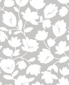2782-24553 Matilda Grey Floral Wallpaper