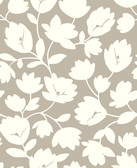 2782-24554 Matilda Taupe Floral Wallpaper
