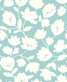 2782-24555 Matilda Turquoise Floral Wallpaper