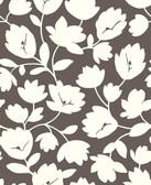 2782-24556 Matilda Chocolate Floral Wallpaper