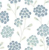 2785-24800 Aqua Scandi Flora Wallpaper