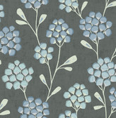 2785-24801 Graphite Scandi Flora Wallpaper