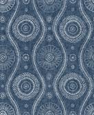 2785-24802 Indigo Painterly Wallpaper