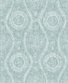 2785-24803 Aqua Painterly Wallpaper