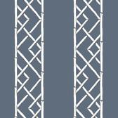2785-24807 Indigo Latticework Wallpaper
