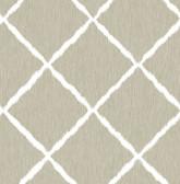 2785-24812 Linen Ikatrellis Wallpaper
