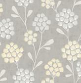 2785-24863 Citrine Scandi Flora Wallpaper