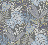 2785-87422 Denim Jasmine Wallpaper