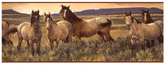 CH7813BDLM-LAKE FOREST LODGE GRAY HORSE BORDER-SAND-BROWN BAND