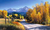 LAKE FOREST LODGE AUTUMN LANDSCAPE MURAL-MULTI
