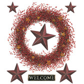 RMK2146GM-Welcome Home Country Wreath Wall Decal Wall Applique