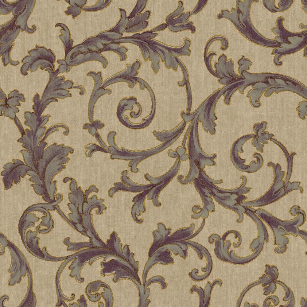 Saint Augustine Embroidered Scroll Bq3823 Plum Tan