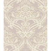 Saint Augustine Baroque Floral Damask BQ3895 Wallpaper in Lavender and White