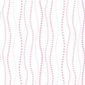 KD1849-PEEK-A-BOO DOTTY STRIPE WALLPAPER-pearled pink-warm white