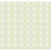 YS9319-PEEK-A-BOO FRANCO GRAPHIC CHAIN LINK WALLPAPER-white-soft green-medium green