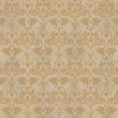 Gentle Manor Drybrush Damask Fawn Wallpaper GG4733