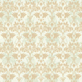 Gentle Manor Drybrush Damask Hazel Wallpaper GG4736