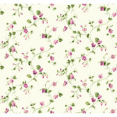 Waverly Cottage Sweet Violets Trail Lilac-White Wallpaper ER8109
