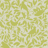 Waverly Cottage Birdsong Tan-Olive Wallpaper ER8137