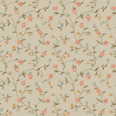 Waverly Cottage Bellisima Vine Coral-Brown Wallpaper ER8190