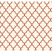 Waverly Cottage Buzzing Around Trellis Magenta-Cream Wallpaper ER8197